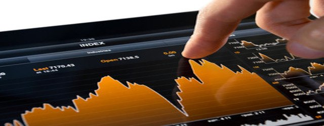 Touching Stock Market Chart